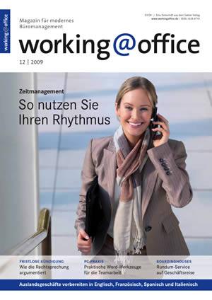 working@office 12/2009 Titelseite