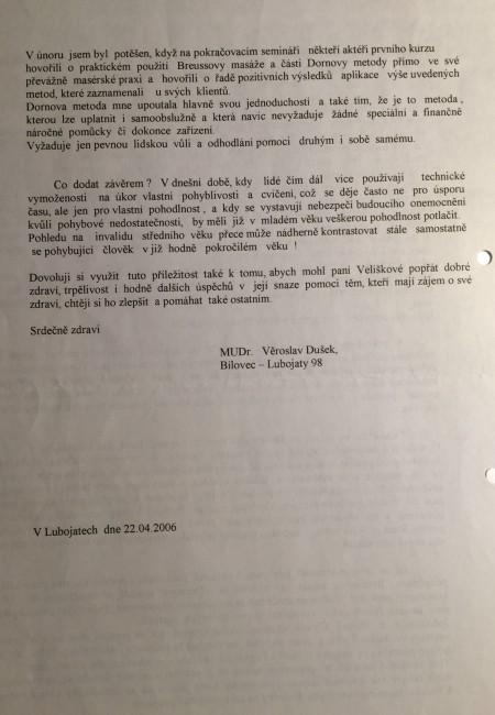 Referenz Dorn-Methode, Heilpraktikerin Anna Velisek, Nürnberg